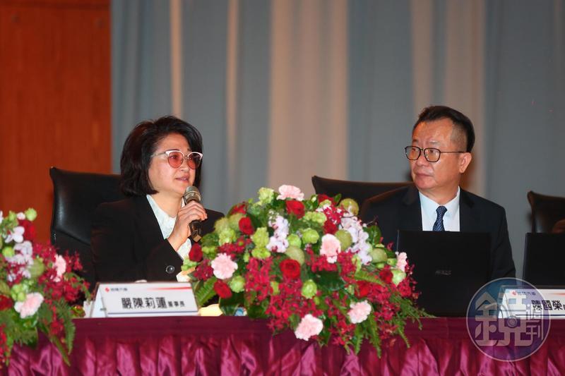 跟隨已逝董座嚴凱泰打拚多年的老臣陳國榮(右),因個人因素請辭總管理處總經理。