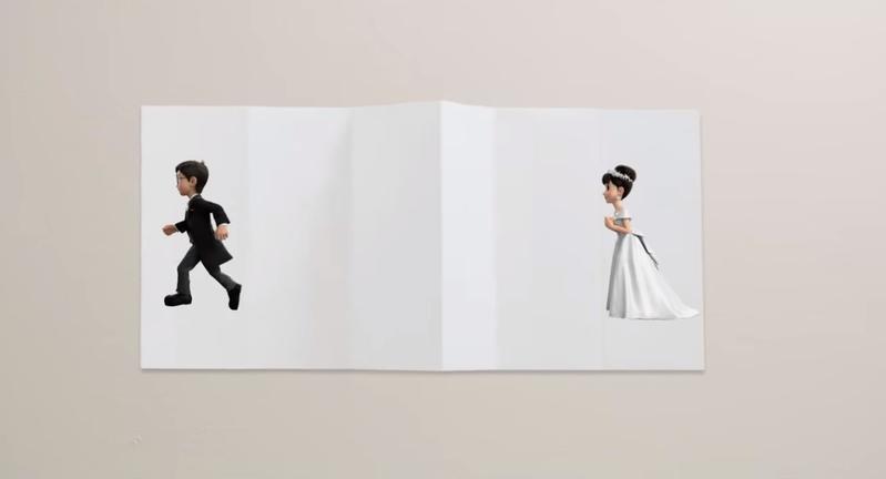 《STAND BY ME 哆啦A夢》預告中,即將結婚的大雄成了落跑新郎。(翻攝《STAND BY ME 哆啦A夢2》預告)