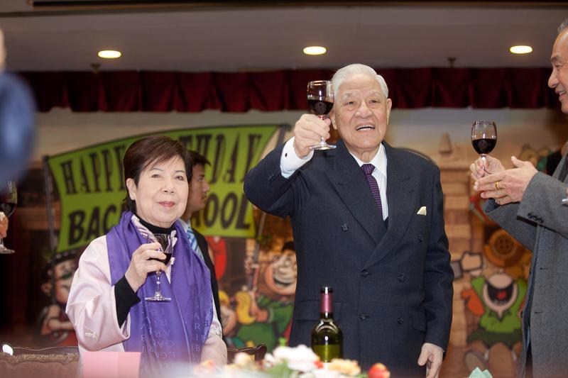 前總統李登輝與妻子曾文惠對已故獨子期望很高。(李登輝基金會提供)