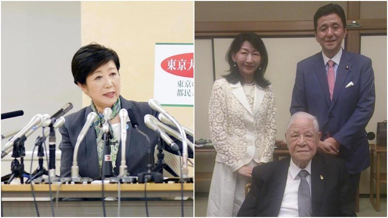 針對台灣前總統李登輝辭世,小池百合子(左)與岸信夫皆發文哀悼。(翻攝自小池百合子、岸信夫臉書)