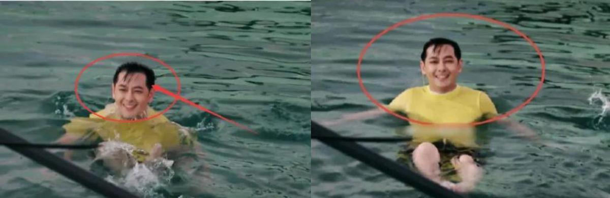 林志穎在節目中跳水之後,沒了瀏海掩護,曝光真實髮際線。(翻攝自瓜組新鮮事微博)