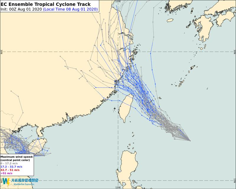 彭啟明po文提醒大家,得留意最快於今晚生成的第4號颱風「哈格比」。(翻攝自氣象達人彭啟明臉書)