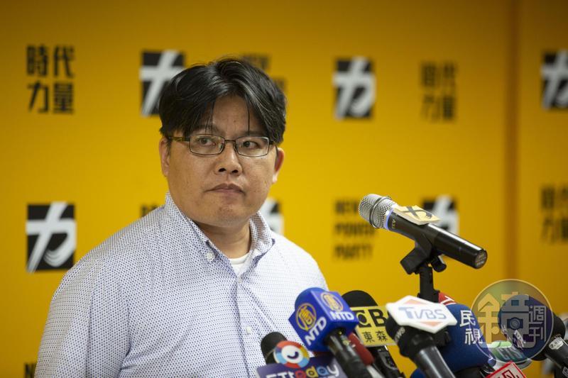 臨危受命接下代理黨主席,邱顯智向時代力量支持者及台灣人民道歉。(本刊資料照)
