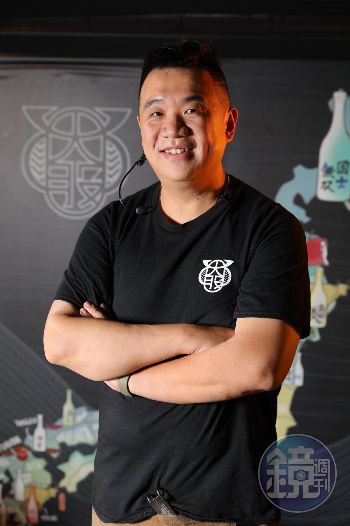 台北忠孝店執行長夏達偉本來從事進出口物流業,看見結合日本酒與燒肉的商機,將品牌引進台北。