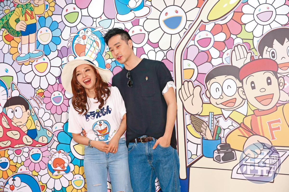 愛紗去年二月和結婚三年的周洺甫(右)離婚。