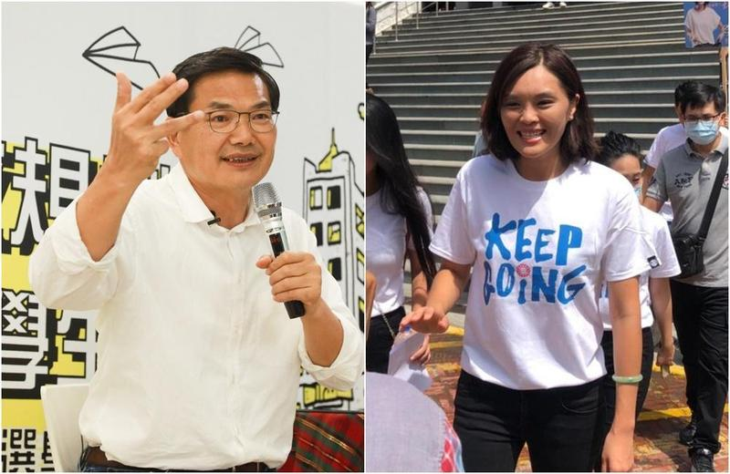 對於李眉蓁邀請擔任她的副市長,民眾黨吳益政表示「人帥被吃豆腐」。(翻攝自李眉蓁、吳益政粉絲專頁)