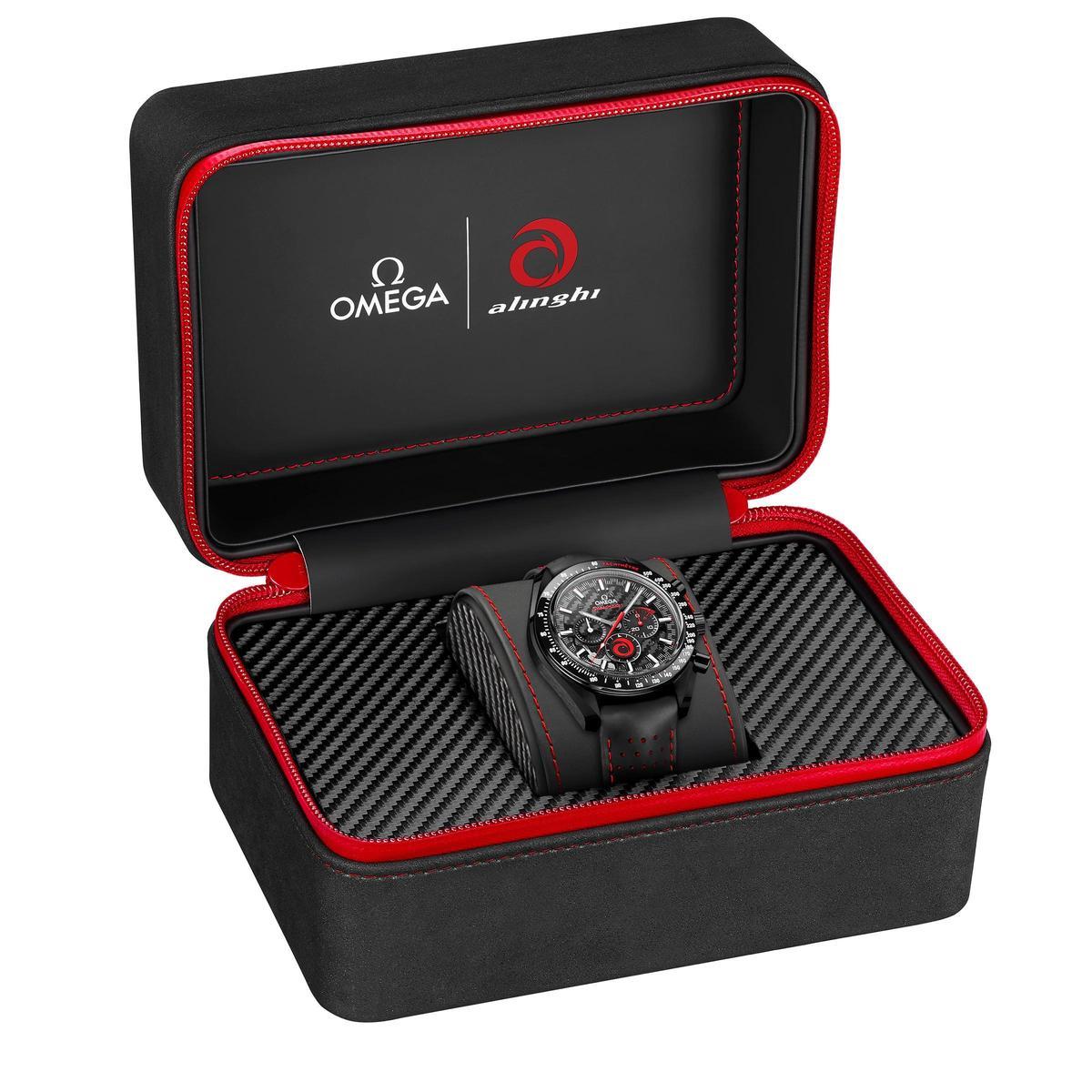歐米茄全新超霸月之暗面ALINGHI腕錶,建議售價NT$353,300。