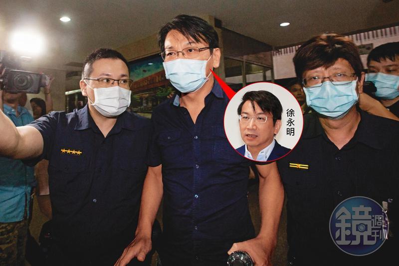前太流公司負責人李恆隆為爭奪SOGO經營權,涉嫌行賄時代力量黨主席徐永明(中)等5名朝野立委,訊後遭聲押禁見。