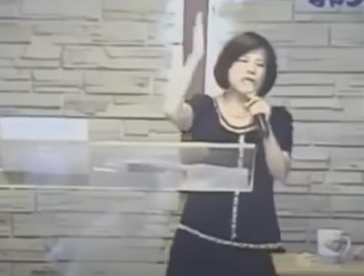 昔日爆紅的郭美江牧師證實癌逝。(翻攝自YouTube)