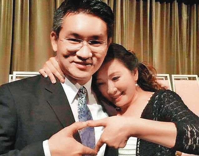 2014年4月13日,童仲彥與李秀環結婚,選這天是取其諧音「愛妳一世誓一生」,孰料還是因為家暴離婚。(翻攝童仲彥臉書)