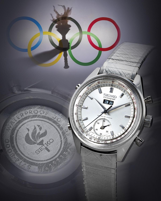 SEIKO「1964 年東京奧運」5718-8000型號,約1964年出廠,預估拍價:100,000~200,000港元。