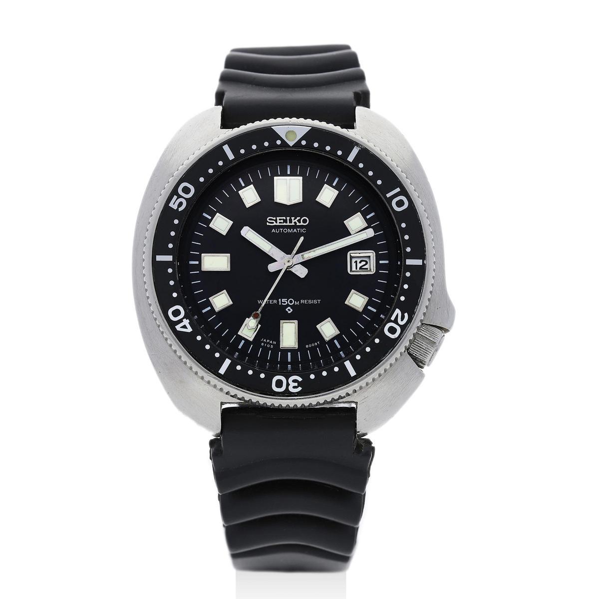 SEIKO「Diver's」6105-8119型號,約1969年出廠,預估拍價:4,000~8,000港元。