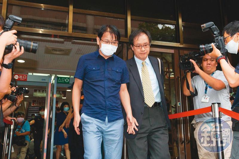 前時代力量黨主席徐永明因涉及期約索賄200萬元,交保後宣布退黨。
