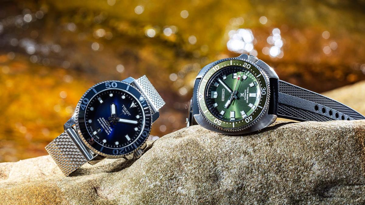 (左)TISSOT- Seastar 1000,建議售價NT$ 24,100(右)SEIKO- Diver Scuba,建議售價NT$ 37,000