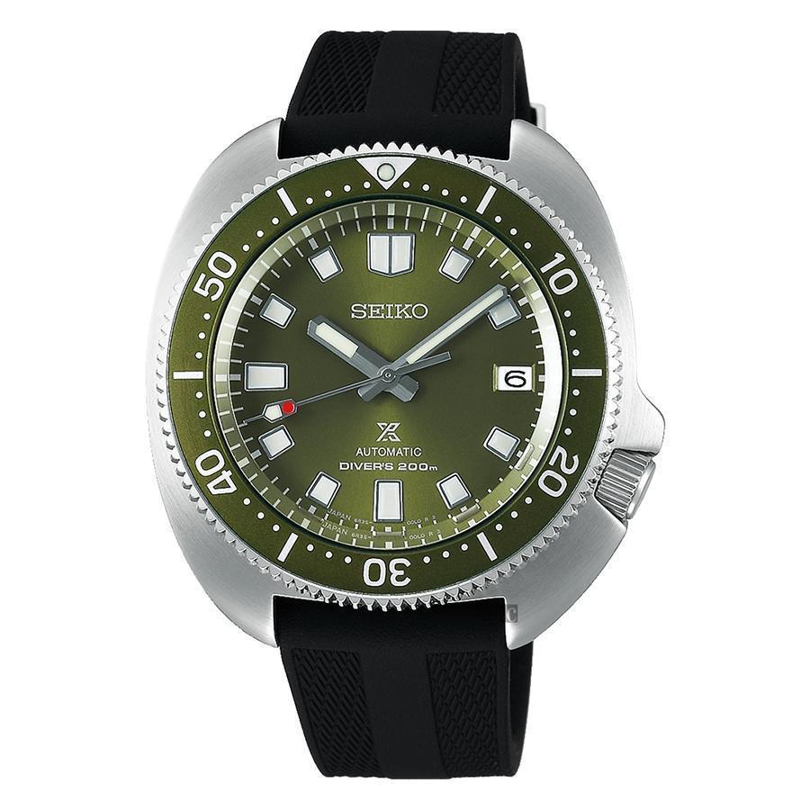 錶徑42.6mm、不鏽鋼材質、時間及日期指示、6R35自動上鏈機芯、防水200米、建議售價NT$ 37,000