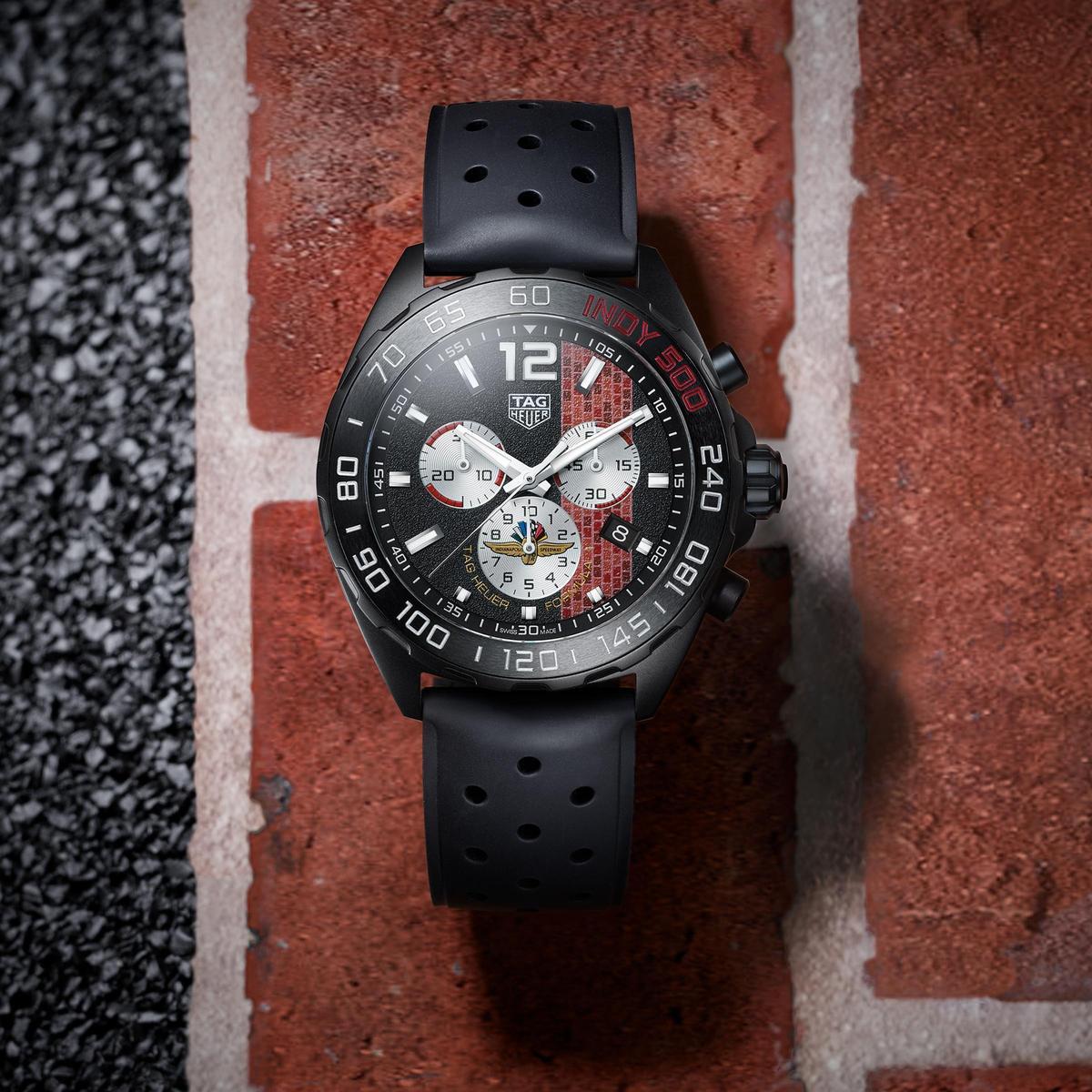 Formula 1系列2020年Indy 500特別版腕錶,全球限量1,500只,定價NT$69,000。