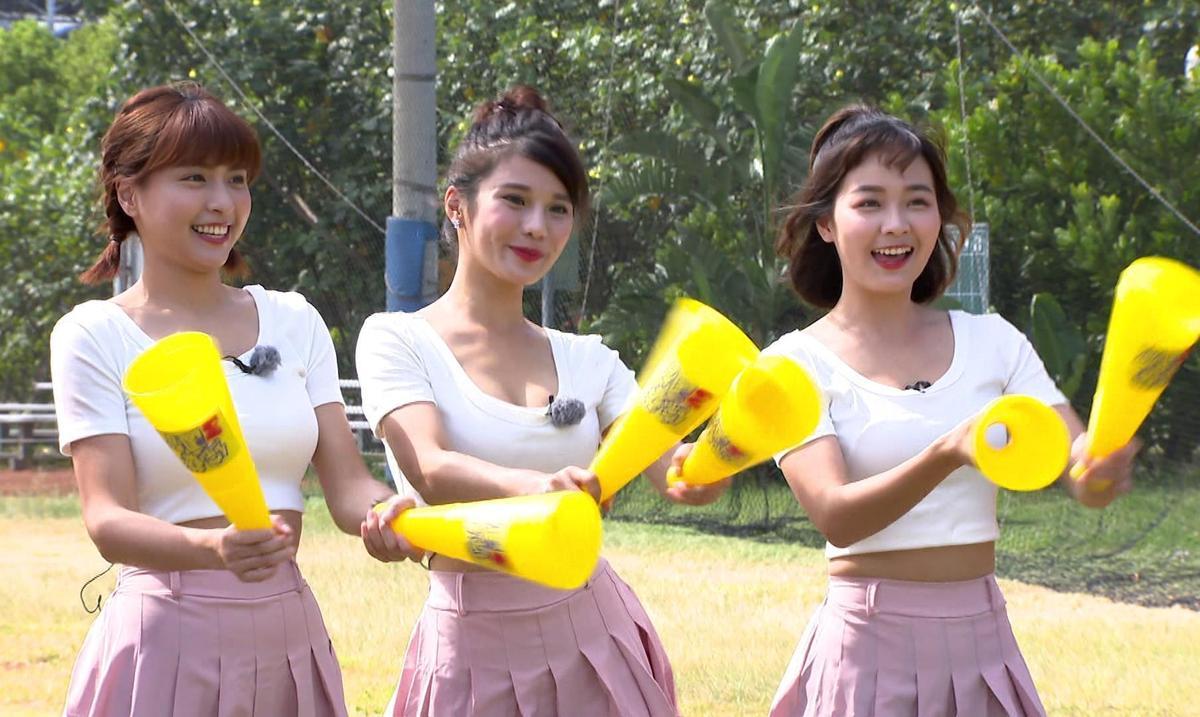 峮峮、琳妲、籃籃上《綜藝3國智》擔任關卡魔王。(台視提供)