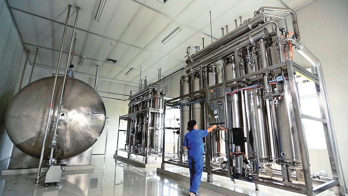 康友曾是生技股王,主要產品是大容量注射液,在中國市占排名第6。(翻攝康友製藥官網)