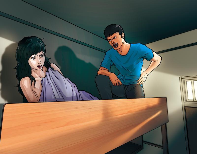 小玉控訴,謝男會要求她同住男生宿舍,還拿走她的衣物,防止她逃跑,形同軟禁,時間長達1個月。