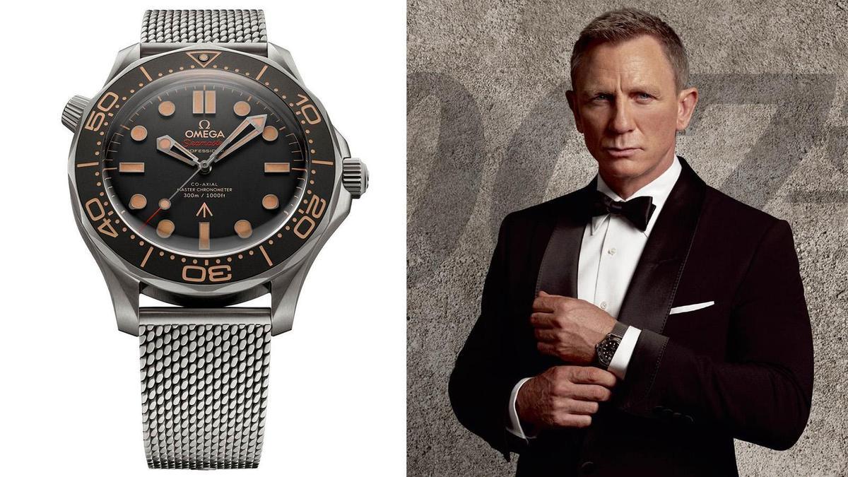 去年率先發佈的海馬300米潛水錶007限定版,是丹尼爾克雷格今年在007系列電影《No Time to Die》(生死交戰)中實際佩戴的手錶,輕盈是最明顯的上手感。建議售價NT$ 300,300。