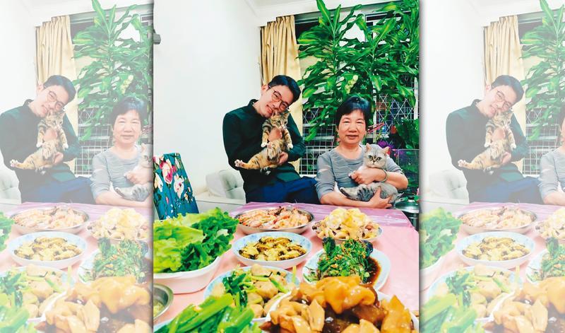 揹負香港的命運,羅冠聰(左)被迫拋下母親(右)與2隻愛貓,獨自踏上流亡旅程。(翻攝羅冠聰臉書)