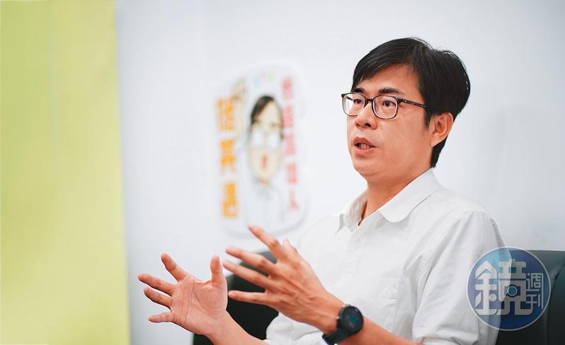 準高雄市長陳其邁15日開票當天接受本刊專訪,暢談他未來的高雄建設藍圖。