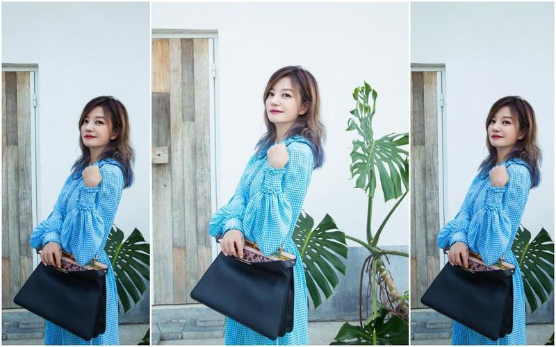 趙薇拎著的FENDI Peekaboo ISeeU Medium皮革包款,台灣10月中旬才會販售。NT$146,000(FENDI提供)