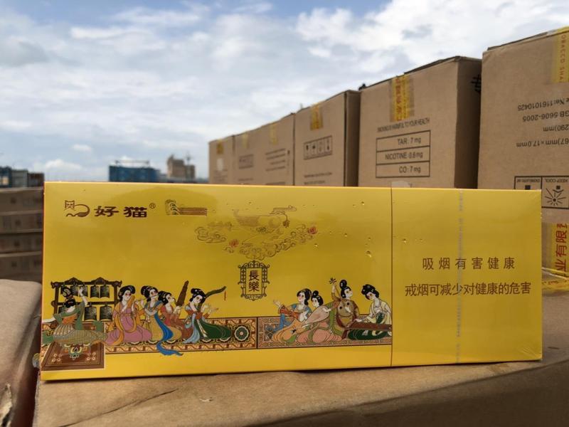 走私的菸品中有中國大外宣政策「一帶一路」的字樣。(翻攝畫面)