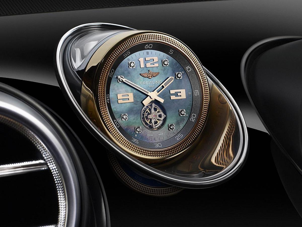 BREITLING專為BENTLEY設計打造的陀飛輪機械鐘,要價約450萬台幣。