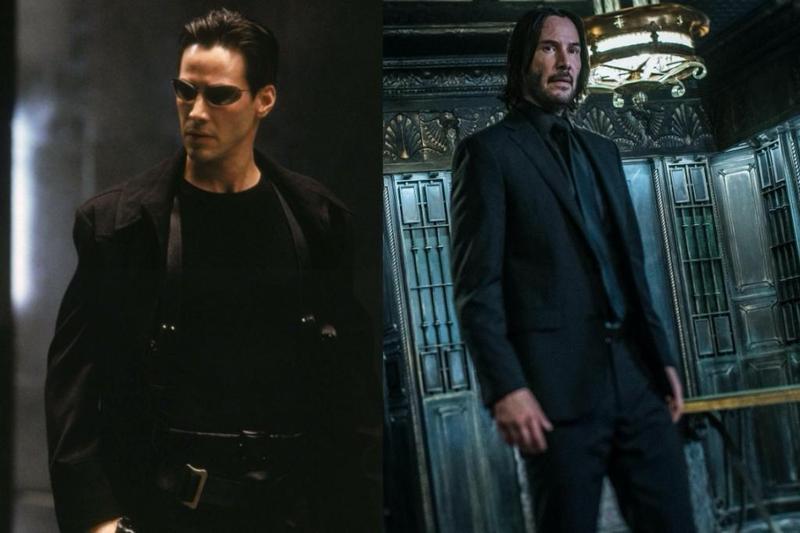 不管你認識的基努李維是《駭客任務》的尼歐(左),還是《捍衛任務》約翰維克(右),他說自己最想演的是金剛狼。(華納兄弟、威視電影提供)
