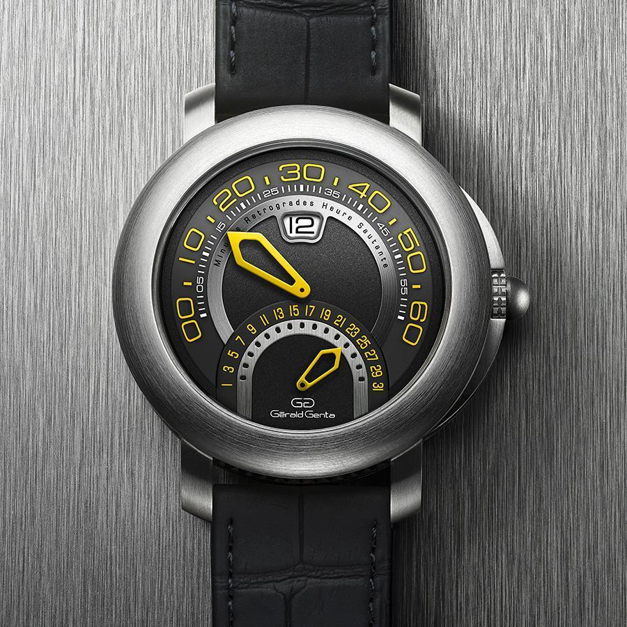 錶徑43mm、鈦金屬材質、跳時及逆跳分鐘與逆跳日期指示、BVL 300自動上鏈機芯、防水100米、價格店洽