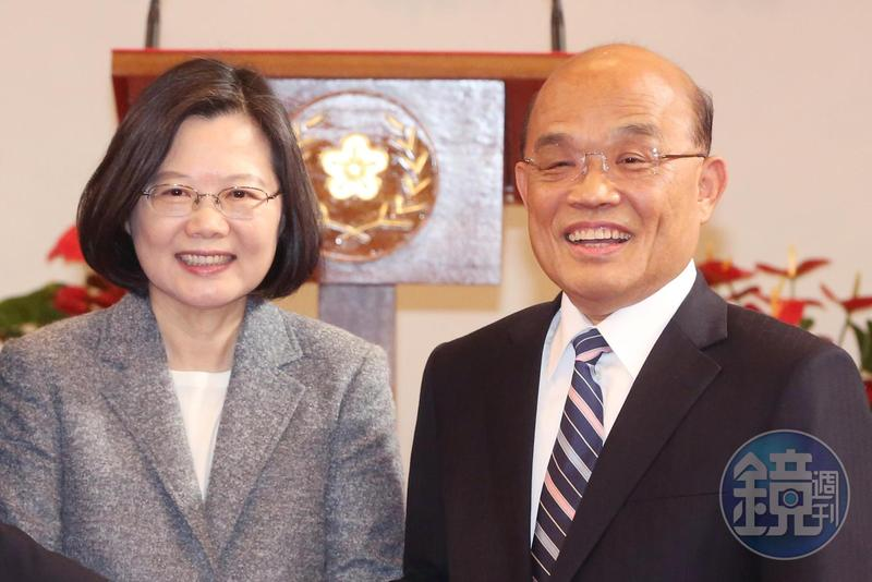 總統蔡英文、行政院長蘇貞昌明(28日)午將在台北賓館宴請民進黨團立委。(資料照)