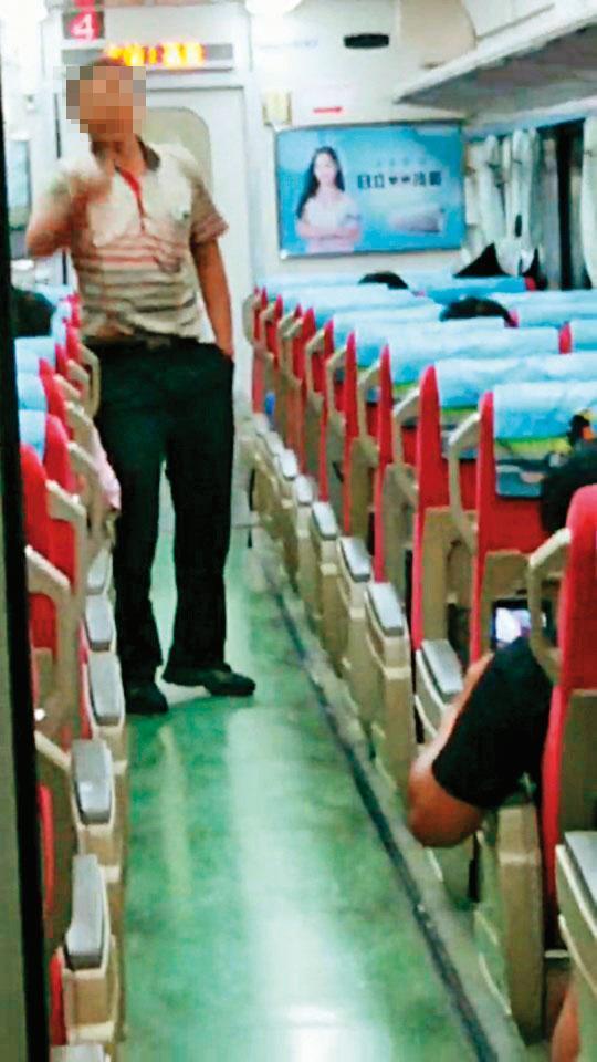 鄭嫌(圖)在火車上持刀刺死鐵路警察,突顯員警裝備不足的窘境。(翻攝畫面)