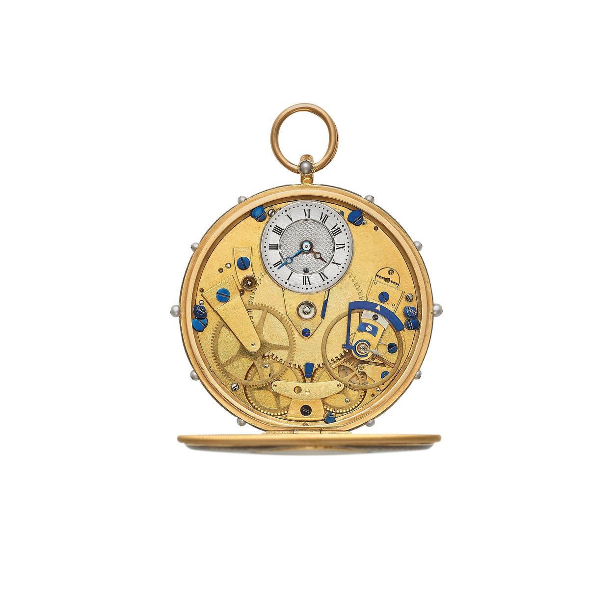 編號2992的寶璣歷史懷錶,當時的面盤配置成了目前Tradition系列的特色重點。