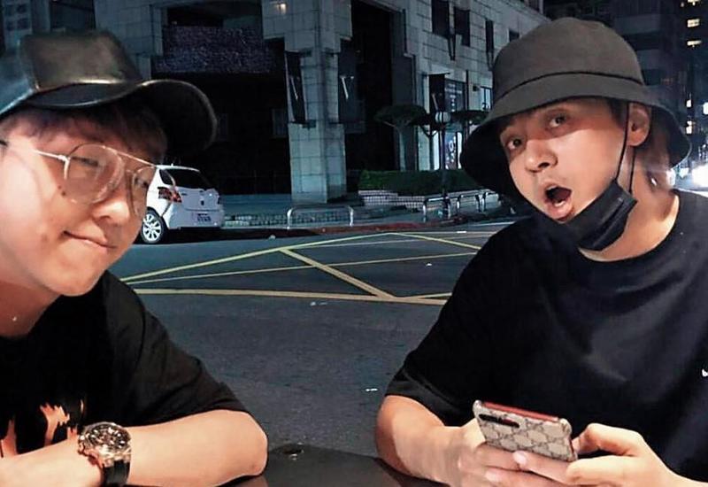 大根(左)與羅志祥曾經一起到處玩,如今已經少碰面。(翻攝羅志祥IG)
