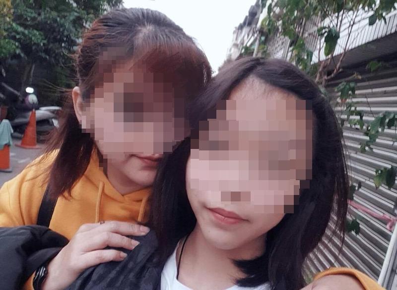高雄14歲國中少女(右)29日從高雄搭高鐵至新竹見網友後失聯,今早最新消息,新竹警方已尋獲少女,目前正帶回釐清案情。(讀者提供)
