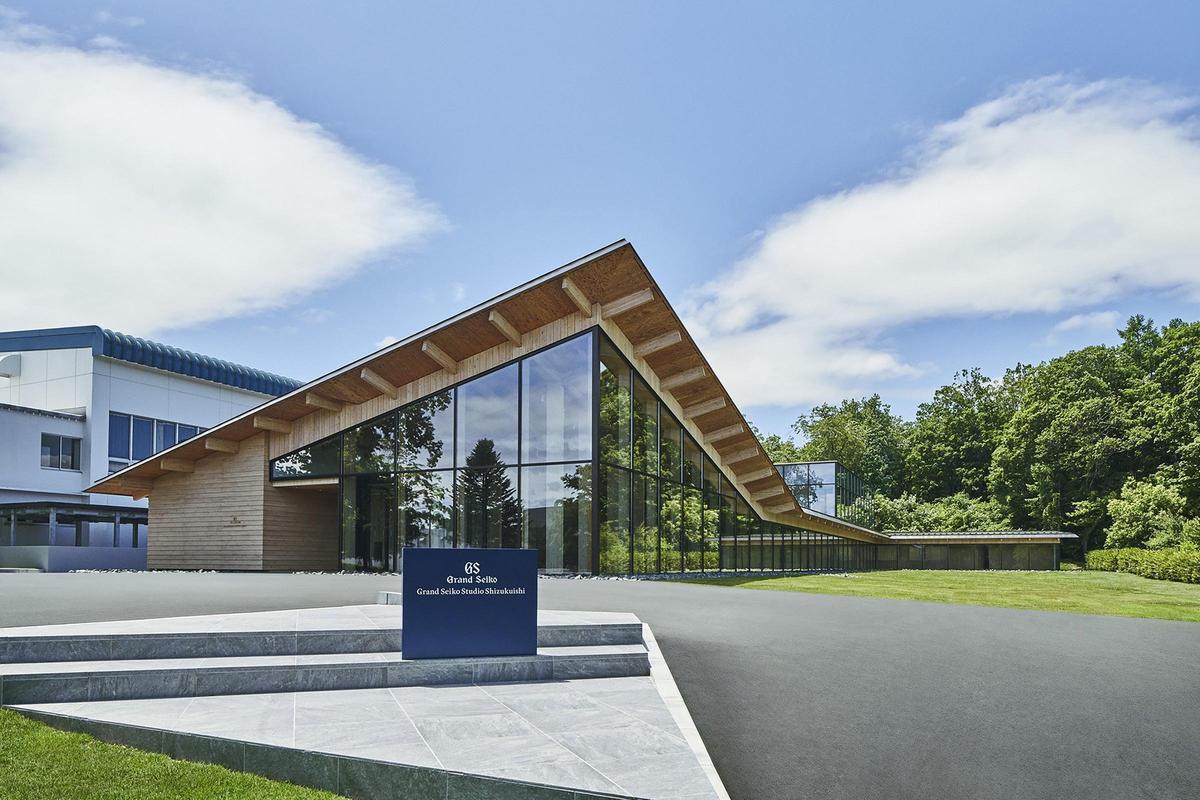 日本知名建築大師隈研吾所設計的雫石高級時計工坊。