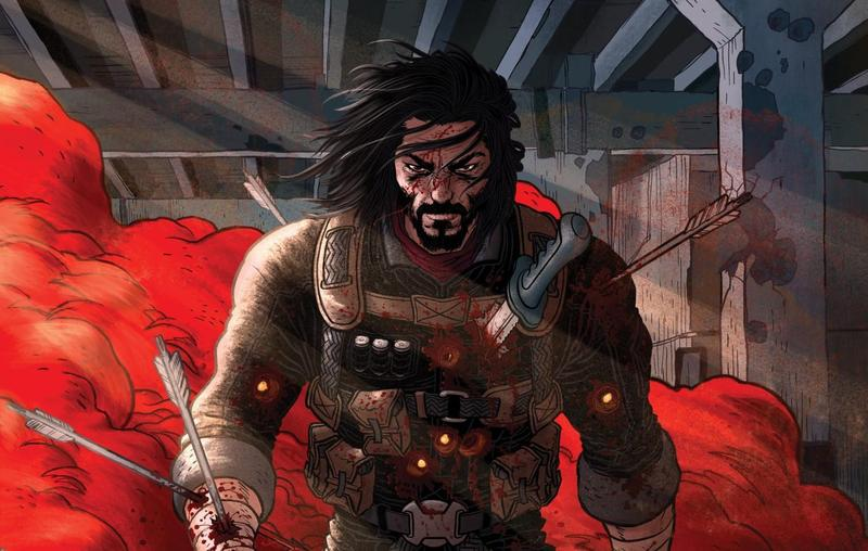 《狂戰士》由基努李維共同編劇,套書在群募平台上開賣。(翻攝自Boom!Studios官網)