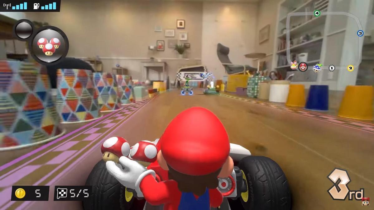 遊戲畫面結合虛擬角色與限時場景,看起來更逼真刺激。(翻攝自Nintendo官方YouTube)