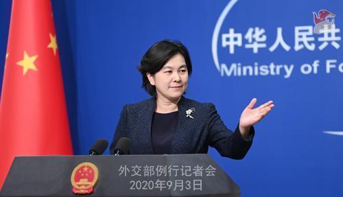 日媒提問中提及「台灣總統蔡英文」,中國外交部發言人華春瑩則表示「今後提到蔡英文的時候請不要稱其為台灣『總統』」。(翻攝中國外交部)