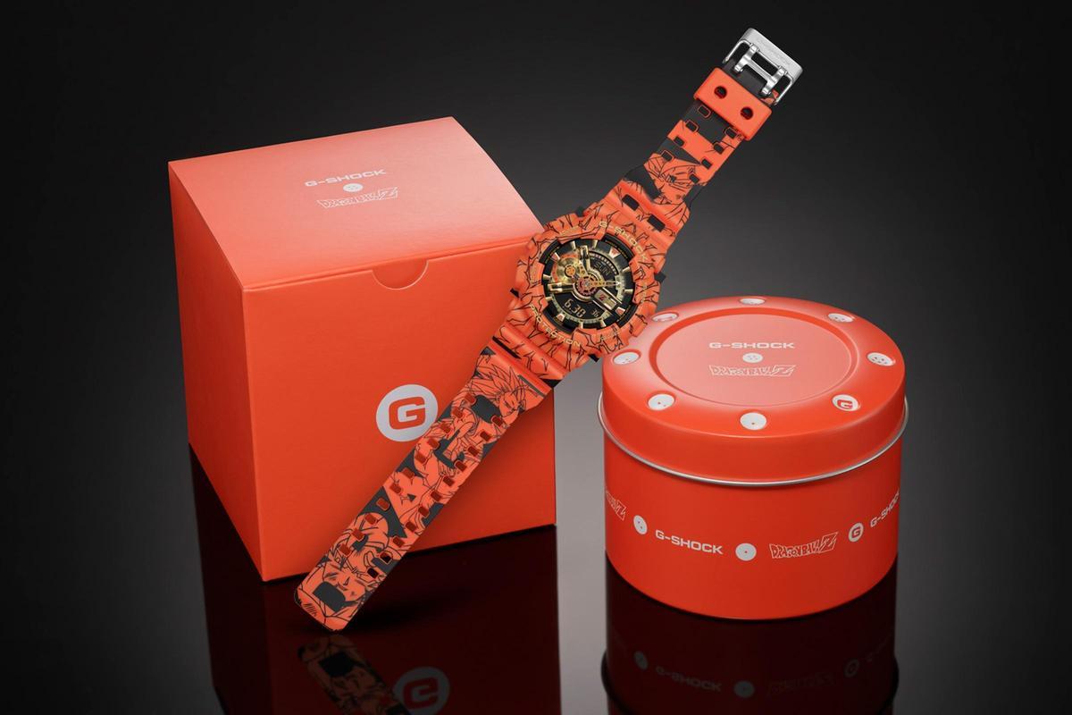 GA-110JDB,隨錶附上的錶盒上頭也裝飾著七龍珠圖案。定價NT$7,300。