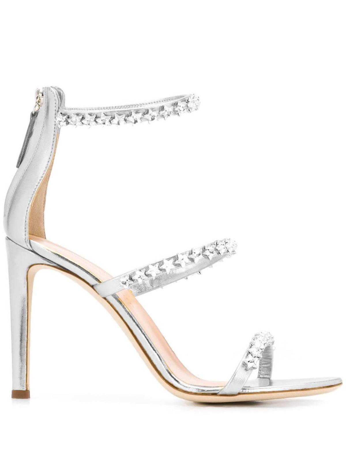 銀色Harmony Cometa高跟鞋,價格店洽GIUSEPPE ZANOTTI。(GIUSEPPE ZANOTTI提供)