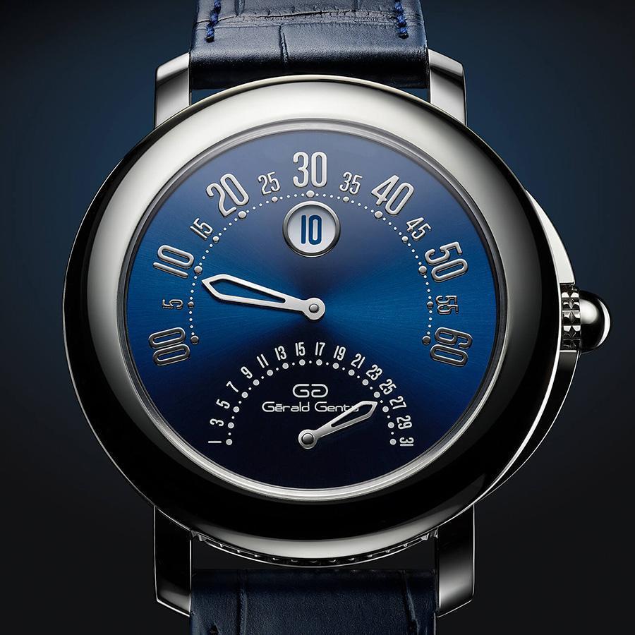 2019年寶格麗為推出GÉRALD GENTA 50週年推出Arena雙逆跳紀念錶,鉑金錶圈和錶殼配上藍色錶盤和同色錶帶,讓不少老玩家像是重溫舊夢般倍感驚喜。
