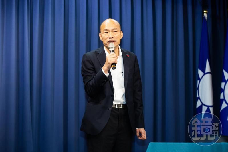 周玉蔻昨爆料,因前高雄市長韓國瑜(圖)有意參選台北市長,蔣萬安才會那麼早就「被逼表態」。(本刊資料照)