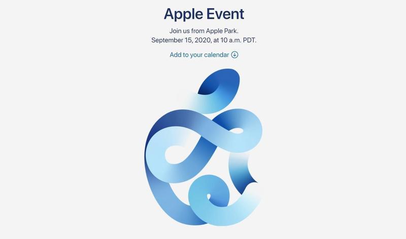蘋果8日發出秋季新品發表會邀請函,邀請函中也暗藏玄機,似乎預告了將推出「海軍藍」iPhone 12。(翻攝自蘋果官網)