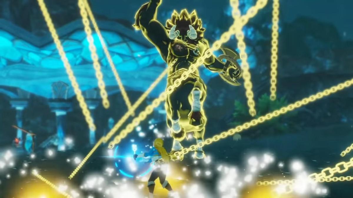 延續《無雙》系列特色,薩爾達公主也會做為可操作角色登場。(翻攝自Nintendo HK官方頻道)