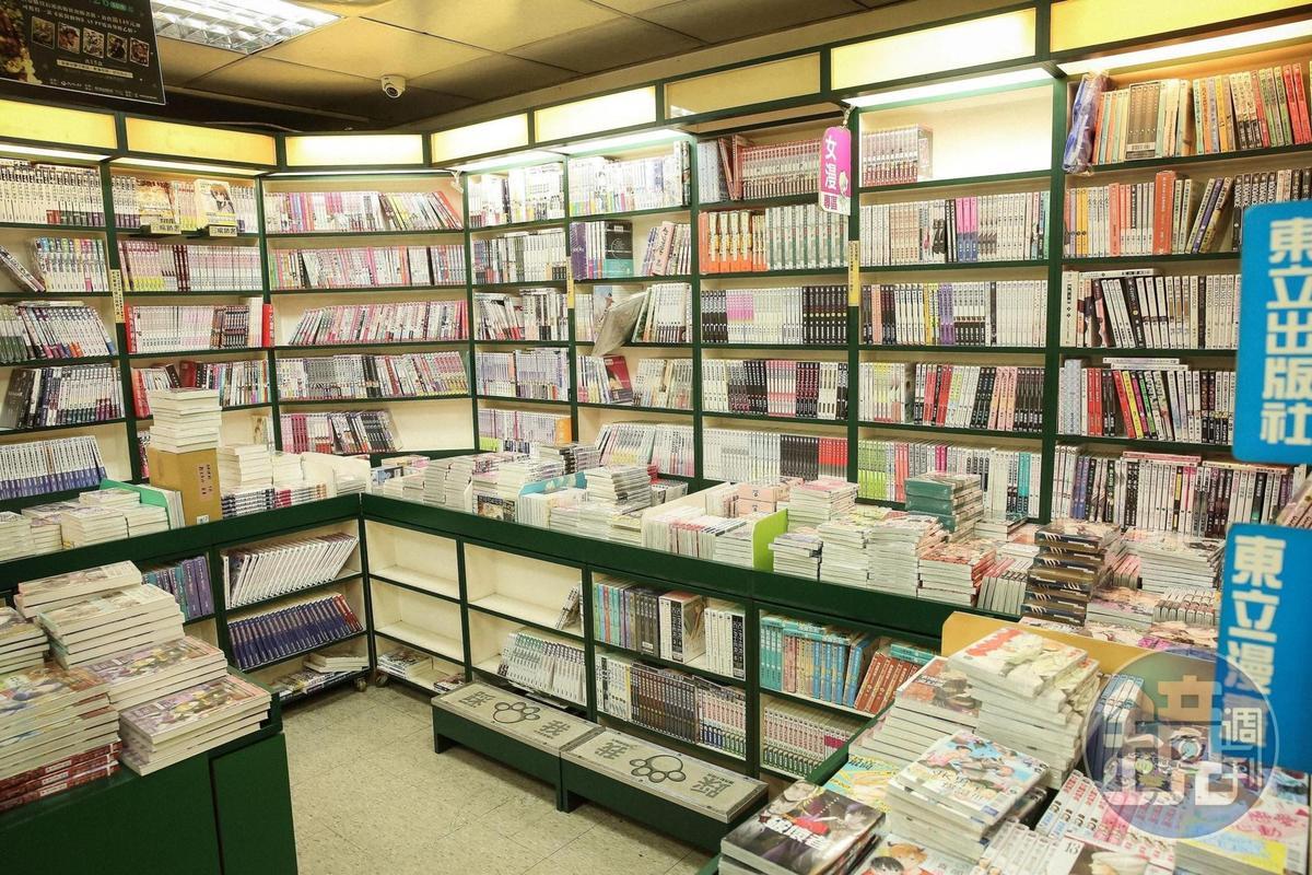 蛙蛙書店業績持續萎縮,漫畫零售商面對網路商城巨獸,只能主打實體店的服務。