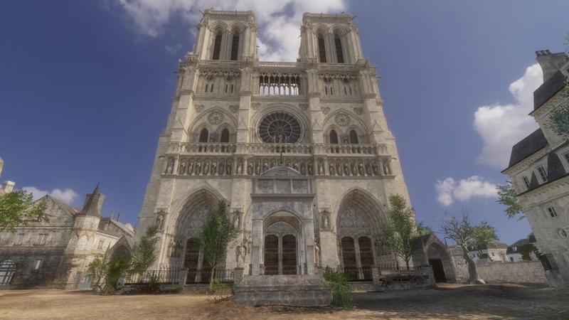 育碧推出以巴黎聖母院為主題的VR導覽遊戲。(翻攝自Steam)