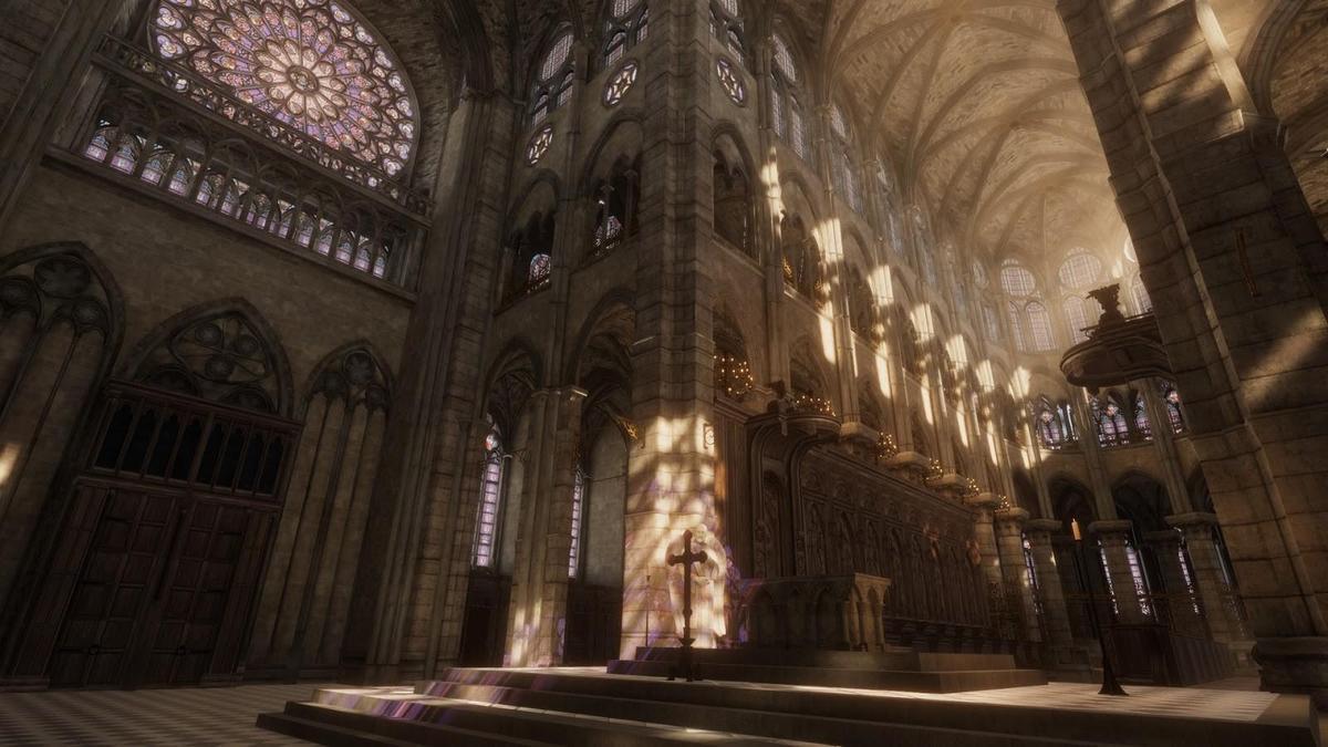透過VR可以一覽因重建而封閉的聖母院內部。(翻攝自Steam)