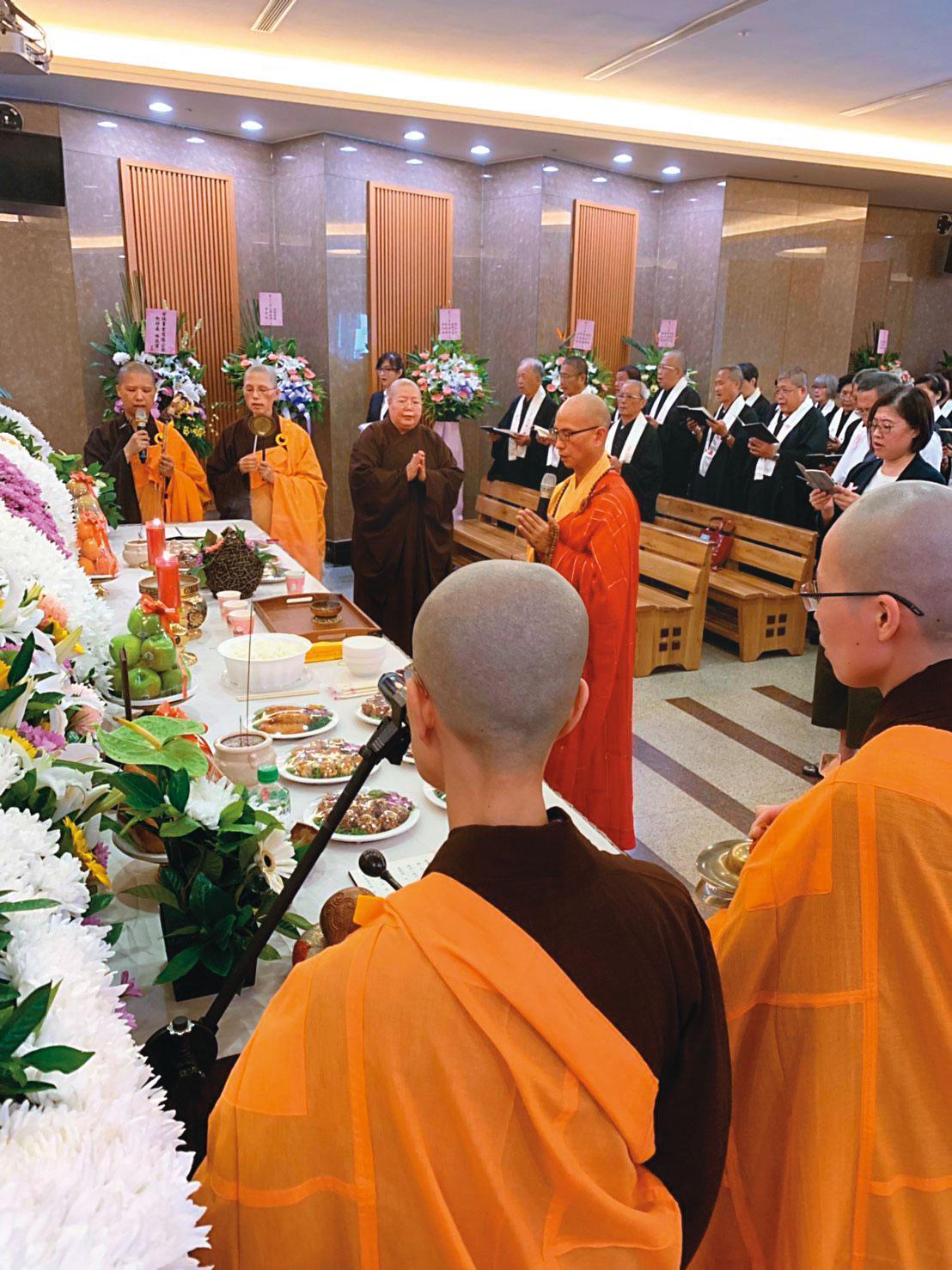 靈鷲山基金會去年在台北市第二殯儀館,為孫伯英及其他刑案死者超渡。(法醫研究所提供)